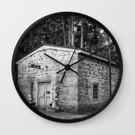 Steam Engine House at Hagley Yard Powder Mill Delaware Wall Clock