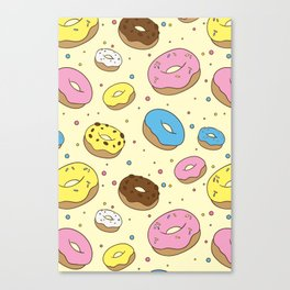Donuts Pattern Canvas Print