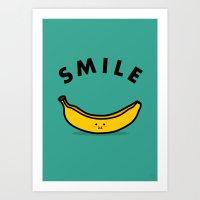 banana Art Prints featuring Banana by Jaco Haasbroek