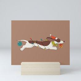Christmas Dachshund Mini Art Print