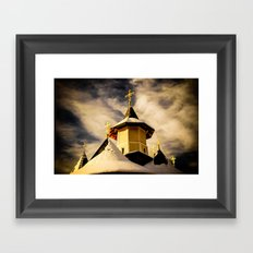 The Crosses of the Katholikon at Petru Voda Monastery, Romania Framed Art Print