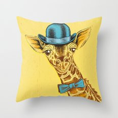 I'm too SASSY for my hat! Vintage Painted Giraffe. Throw Pillow