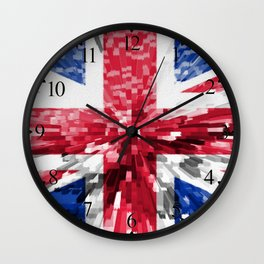 Extruded Flag of the United Kingdom Wall Clock