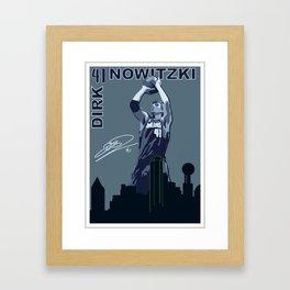 Dirk Over Dallas Framed Art Print