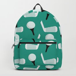 Golfing Pattern (Green) Backpack