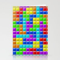 tetris Stationery Cards featuring Tetris by Rebekhaart