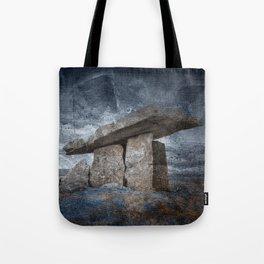 Poulnabrone Dolmen - Blue Winter Grunge Tote Bag