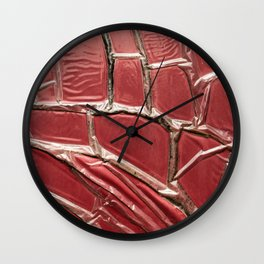 poste box red pattern entropy Wall Clock