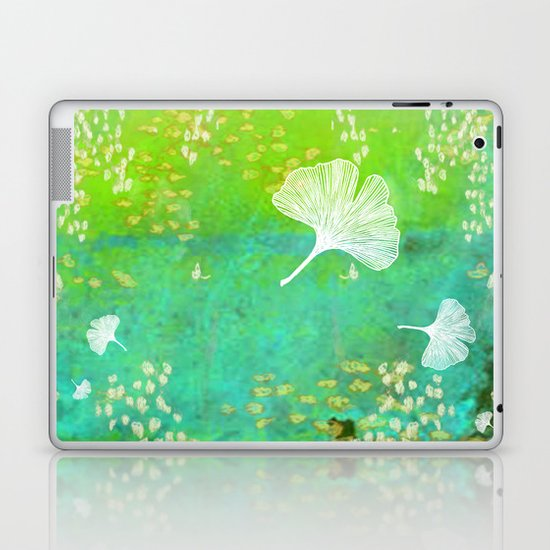 Green Ginkgo Tile Laptop & iPad Skin