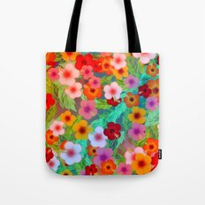 Colorful Hibiscus Tote Bag