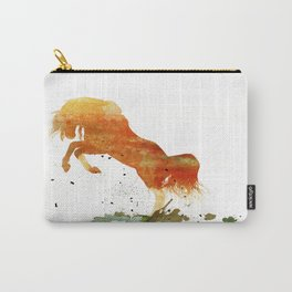 HORSES -Wild mountain pony Carry-All Pouch