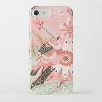 iPhone Cases featuring Little Pink Bird by Angela Rizza