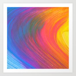 Rainbow Paint Swirl Psychedelic Colors Art Print