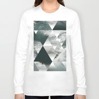 polygon Long Sleeve T-shirts featuring Waves polygon by cat&wolf