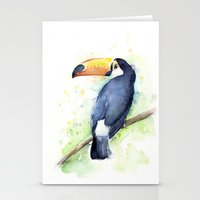 toucan Stationery Cards featuring Toucan by Olechka