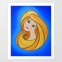 Blake Mod Girl Art Print