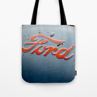ford Tote Bags featuring FORD by TMCdesigns