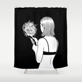 Fall in love with myself first Shower Curtain