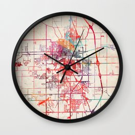 Kokomo map Indiana IN Wall Clock