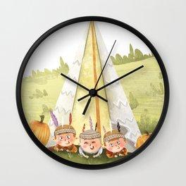 Happy three Indians Wall Clock