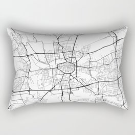 dortmund map germany black and white rectangular pillow