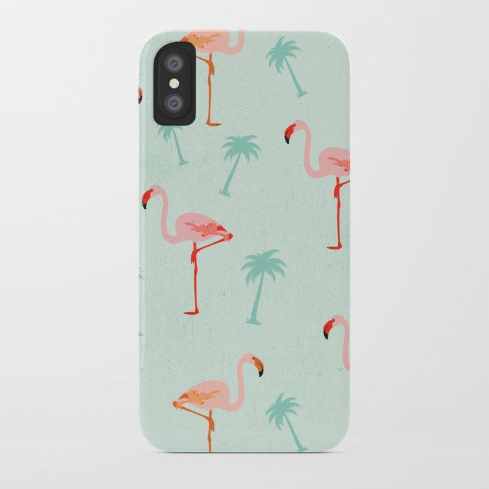 Vintage Flamingos iPhone Case