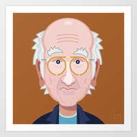 larry david Art Prints featuring Comics of Comedy: Larry David by XK9 Works