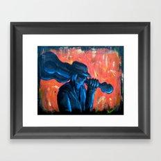 Blues Man Framed Art Print