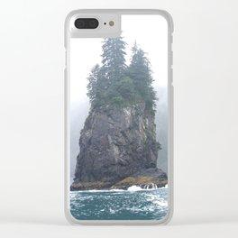 Alaskan Fjords Pillar - 1 Clear iPhone Case