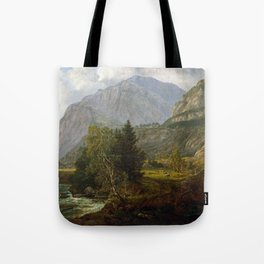 Johan Christian Dahl View of Fortundalen Tote Bag