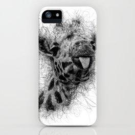Giraffe line iPhone Case