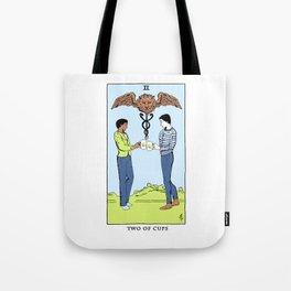 Community Tarot Card- Two of Cups Tote Bag