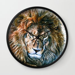 Lion 3 Wild and Free Wall Clock