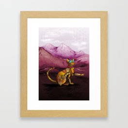 Steam kitty Framed Art Print