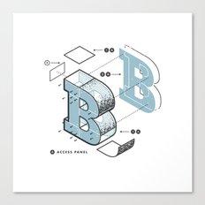 The Exploded Alphabet / B Canvas Print