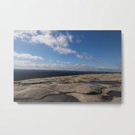 Stone Mountain Top Metal Print