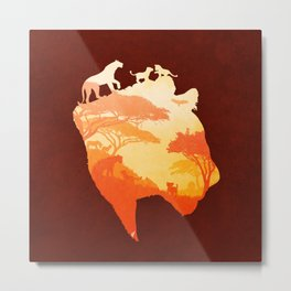 The Heart of a Lioness Metal Print