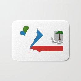 Equatorial Guinea Map with Flag Bath Mat