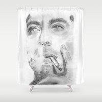 robert farkas Shower Curtains featuring Robert by S'ANNie