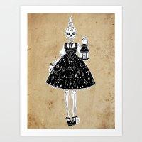 Lollita Skull Art Print