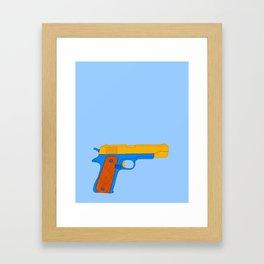 Coloful Toy Beretta Framed Art Print
