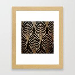 Art nouveau Black,bronze,gold,art deco,vintage,elegant,chic,belle époque Gerahmter Kunstdruck