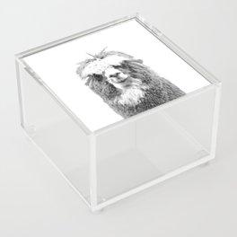 Black and White Alpaca Acrylic Box