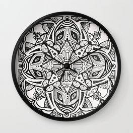 Doodles and Bits Wall Clock