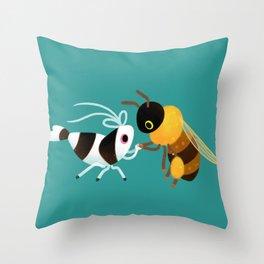 Bee & bee shrimp Throw Pillow
