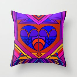 Art Deco Valentine Throw Pillow