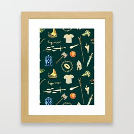 Lord of the pattern green Framed Art Print