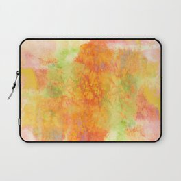 PASTEL IMAGININGS 3 Colorful Pretty Spring Summer Orange Yellow Peach Abstract Watercolor Painting Laptop Sleeve