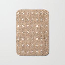 Triangle Mud Cloth Pattern Bastet Weave  Bath Mat