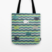 under the sea Tote Bags featuring Under The Sea by LLL Creations